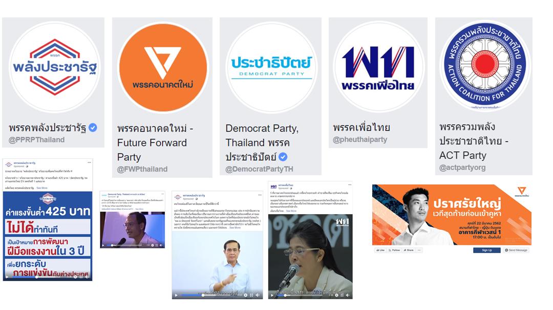 โค้งสุดท้ายก่อนเลือกตั้ง มาดู Facebook ของแต่ละพรรคกัน